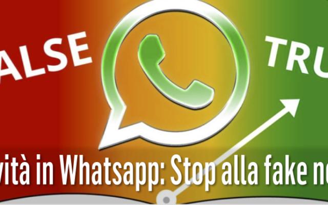 Novità in Whatsapp: Stop alla fake news