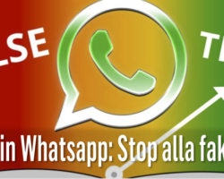 Novità in Whatsapp: Stop alla fake news